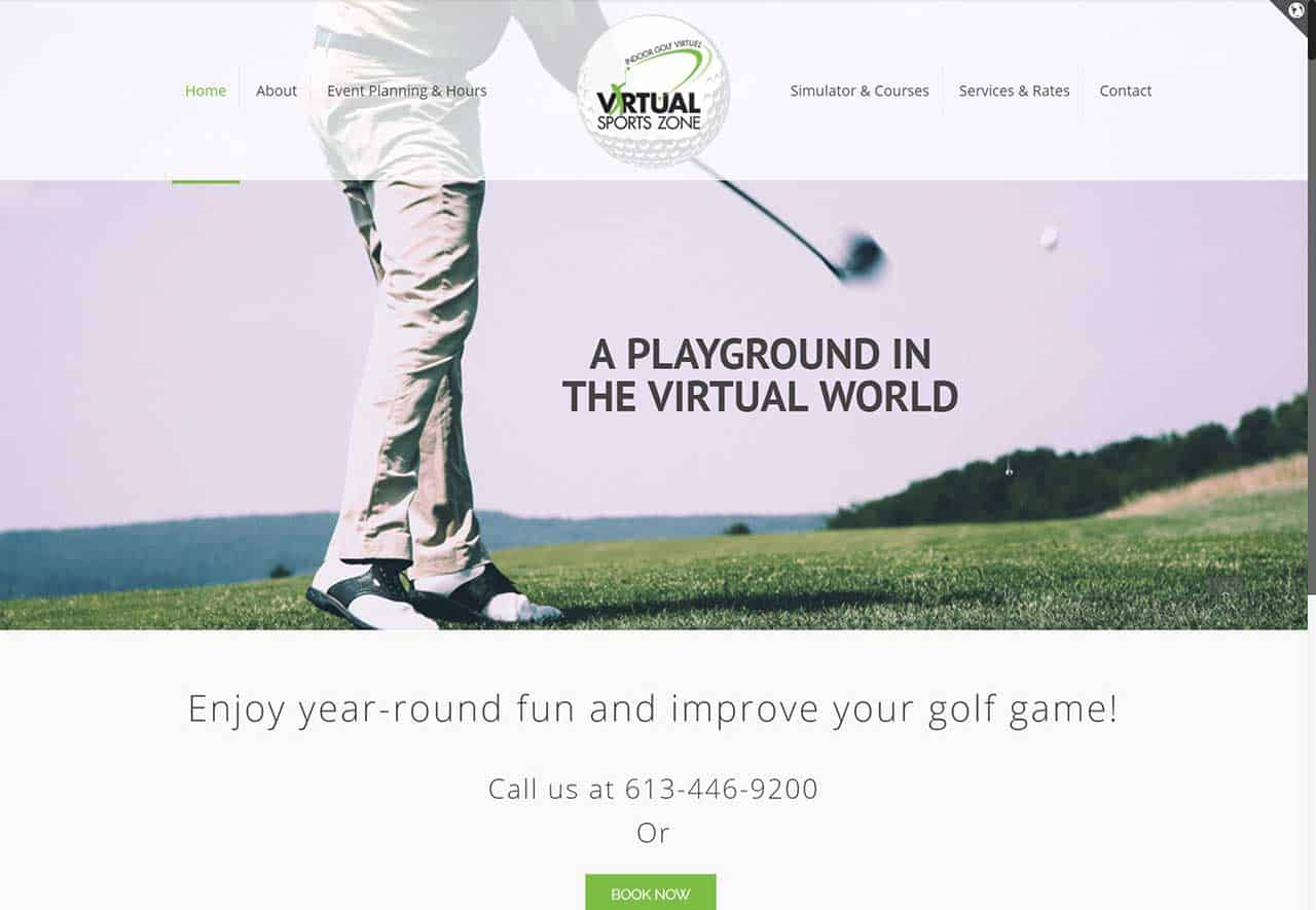 4032f17c3a7 Virtual Sports Zone - Best Web Design Niagara - Anchored Media ...